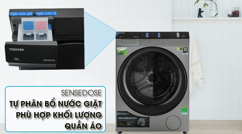 Máy giặt Toshiba Inverter 10.5 Kg TW-BH115W4V (SK) - Khay bột giặt
