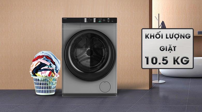 Khối lượng giặt 10.5 kg - Máy giặt Toshiba Inverter 10.5 Kg TW-BH115W4V (SK)