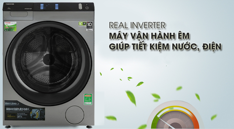 Inverter - Máy giặt sấy Toshiba Inverter 8 Kg TWD-BH90W4V