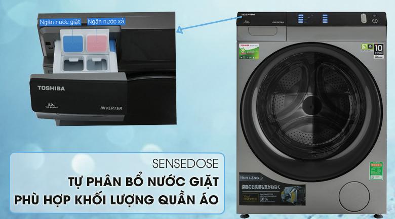 Sense dose - Máy giặt sấy Toshiba Inverter 8 Kg TWD-BH90W4V