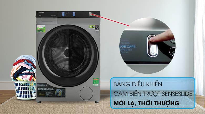 Bảng điều khiển - Máy giặt sấy Toshiba Inverter 8 Kg TWD-BH90W4V