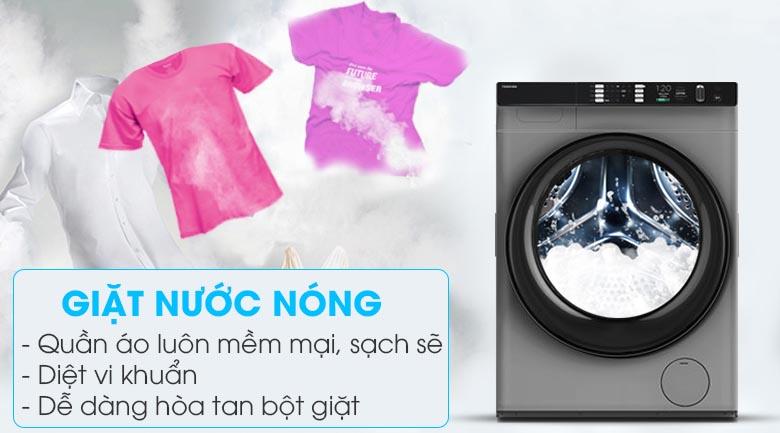 Giặt nước nóng - Máy giặt sấy Toshiba Inverter 10.5 Kg TWD-BH90W4V (SK)