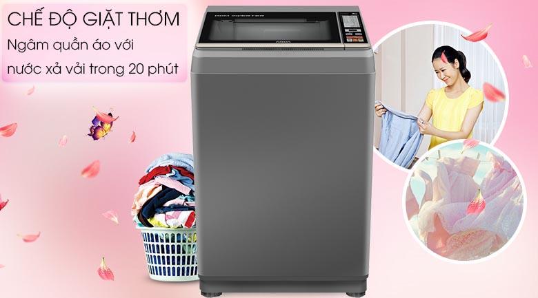 Lưu giữ hương thơm - Máy giặt Aqua Inverter 9 Kg AQW-DK90CT S