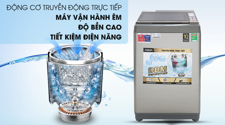 Động cơ truyền động trực tiếp - Máy giặt AQUA AQW-DK90CT S