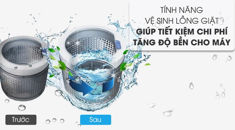 Chế độ vệ sinh lồng giặt - Máy giặt AQUA AQW-DK90CT S