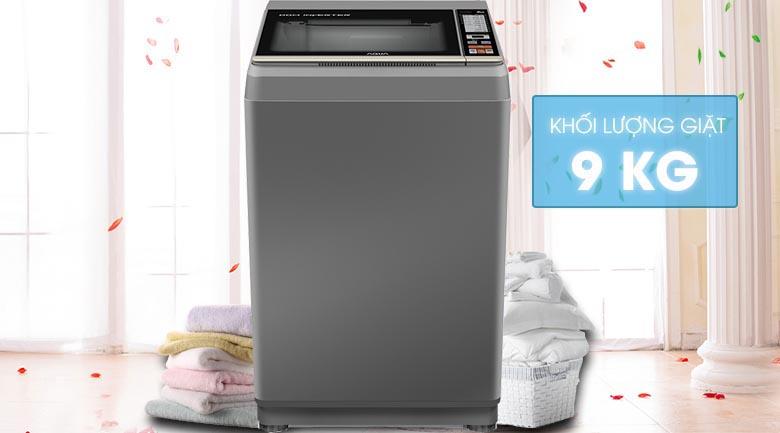 Khối lượng giặt 9 kg - Máy giặt Aqua Inverter 9 Kg AQW-DK90CT S