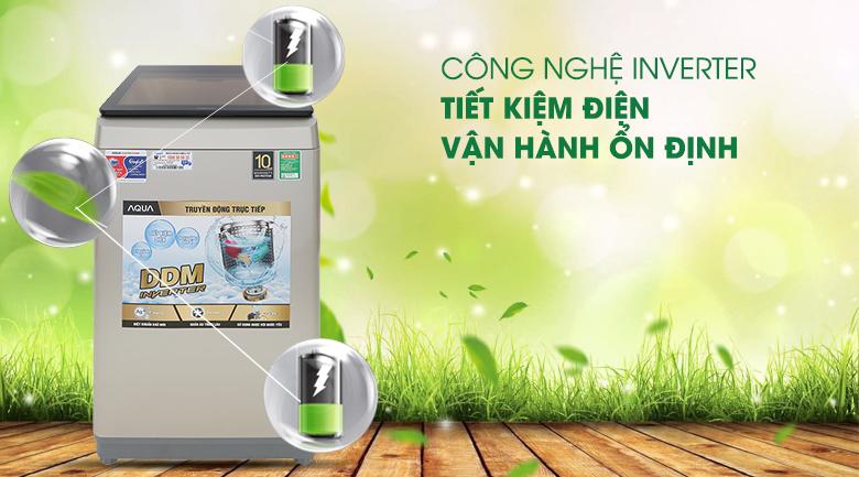 Công nghệ Inverter - Máy giặt Aqua Inverter 9 Kg AQW-D