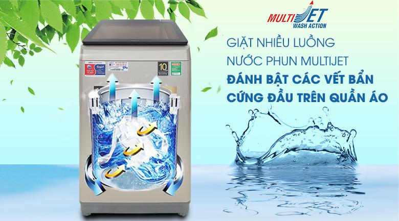 Công nghệ MultiJet - Máy giặt Aqua Inverter 9 KG AQW-D90CT N