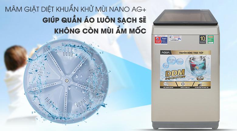 Mâm giặt Nano Ag+ - Máy giặt Aqua Inverter 9 KG AQW-D90CT N