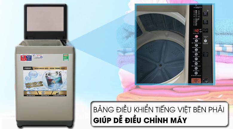 Bảng điều khiển - Máy giặt AQUA 9 Kg AQW-W90CT N Mẫu 2019