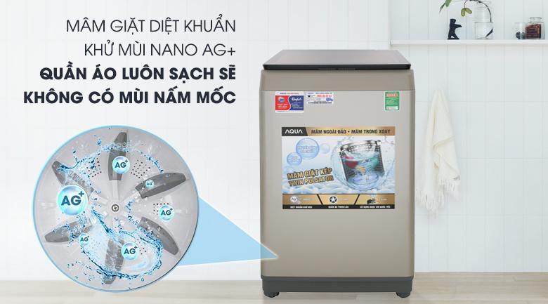 Mâm giặt diệt khuẩn - Máy giặt AQUA 9 Kg AQW-W90CT N Mẫu 2019