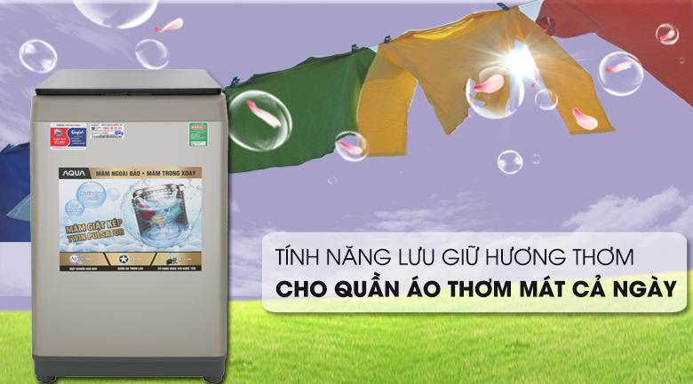 Lưu giữ hương thơm - Máy giặt AQUA 9 Kg AQW-W90CT N Mẫu 2019