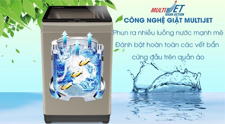 Công nghệ MultiJet - Máy giặt AQUA 9 Kg AQW-W90CT N