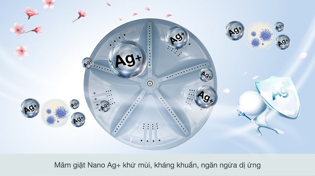 Giặt bằng sóng siêu âm - Máy giặt Aqua 9 Kg AQW-U91CT N