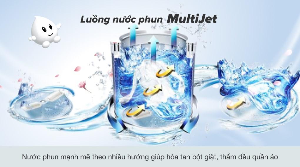 Công nghệ MultiJet - Máy giặt Aqua 9 Kg AQW-U91CT N