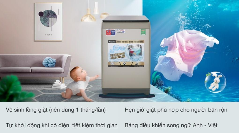 Công nghệ Nano Ag+ - Máy giặt Aqua 9 Kg AQW-U91CT N