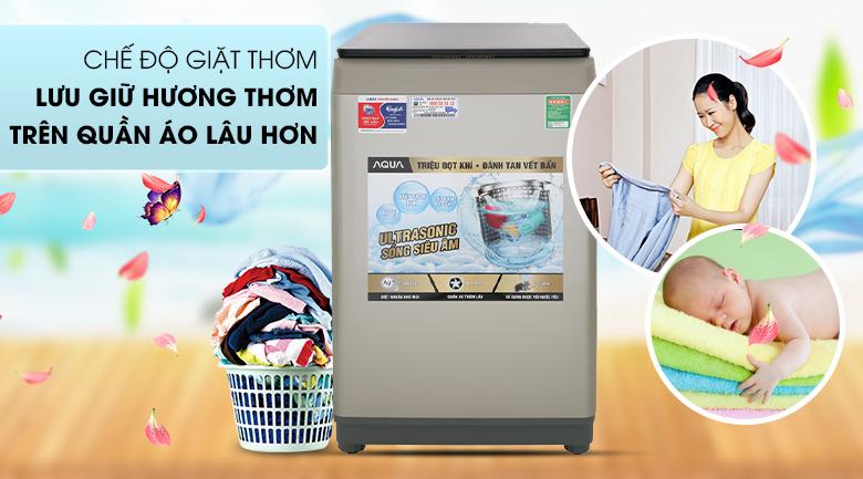 Tính năng lưu giữ hương thơm - Máy giặt Aqua 9 Kg AQW-U91CT N