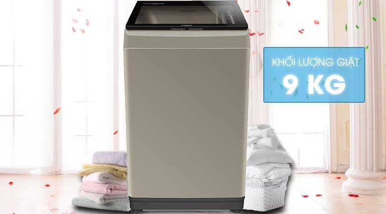 Khối lượng giặt 9 kg - Máy giặt Aqua 9 Kg AQW-U91CT N