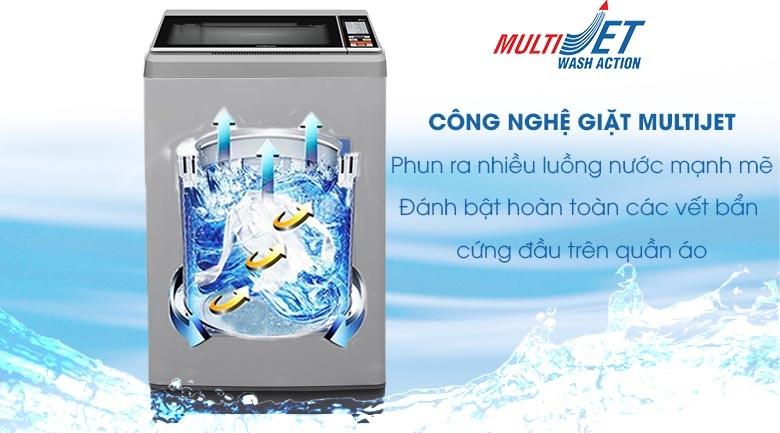 Công nghệ MultiJet - Máy giặt Aqua 9 Kg AQW-S90CT H2