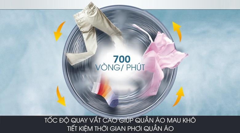 Vắt cực khô - Máy giặt Aqua 8 Kg AQW-S80CT H2
