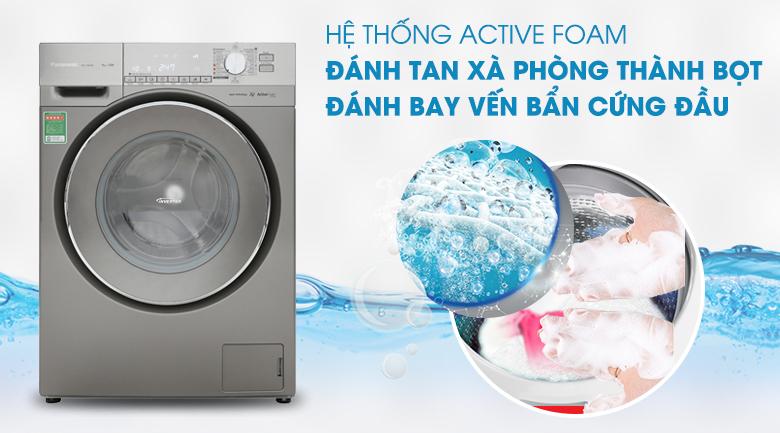 Hệ thống Active Foam - Máy giặt Panasonic Inverter 9 Kg NA-129VX6LV2