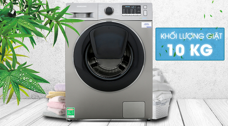 Khối lượng giặt 10 kg - Máy giặt Samsung Addwash Inverter 10 kg WW10K54E0UX/SV