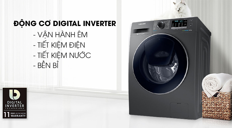 Digital Inverter - Máy giặt Samsung Addwash Inverter 10 kg WW10K54E0UX/SV