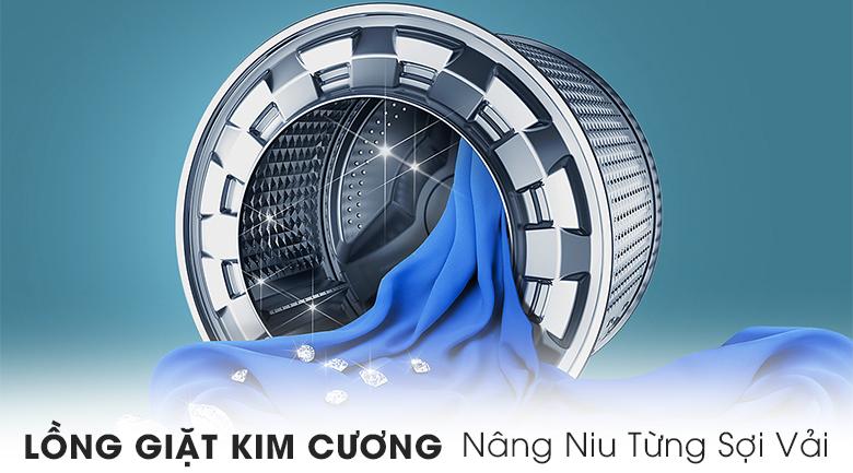 Lồng giặt kim cương - Máy giặt Samsung Addwash Inverter 10 kg WW10K54E0UX/SV