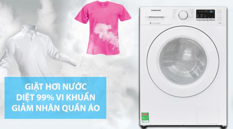 Giặt hơi nước - Máy giặt Samsung Inverter 8 kg WW80J52G0KW/SV