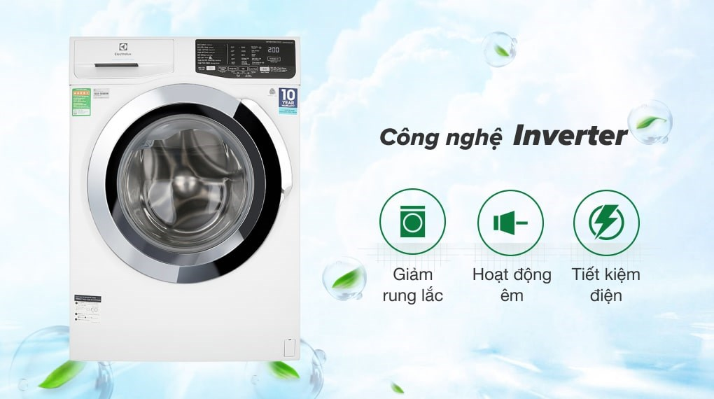 Công nghệ Inverter - Máy giặt Electrolux Inverter 9 kg EWF9025BQWA