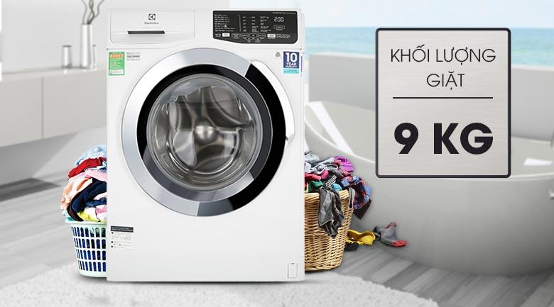 Máy giặt Electrolux Inverter 9 kg EWF9025BQWA - Khối lượng