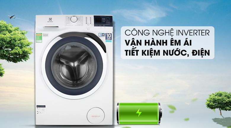 Công nghệ Inveter giúp máy vận hành êm, tiết kiệm điện, nước - Máy giặt Electrolux Inverter 9 kg EWF9024BDWA Mẫu 2019
