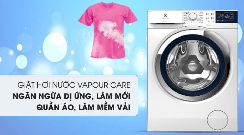 Giặt hơi nước Vapour Care - Máy giặt Electrolux Inverter 9 kg EWF9024BDWA