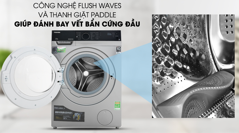 Thanh giặt Paddle - Máy giặt Toshiba Inverter 9.5 kg TW-BH105M4V SK