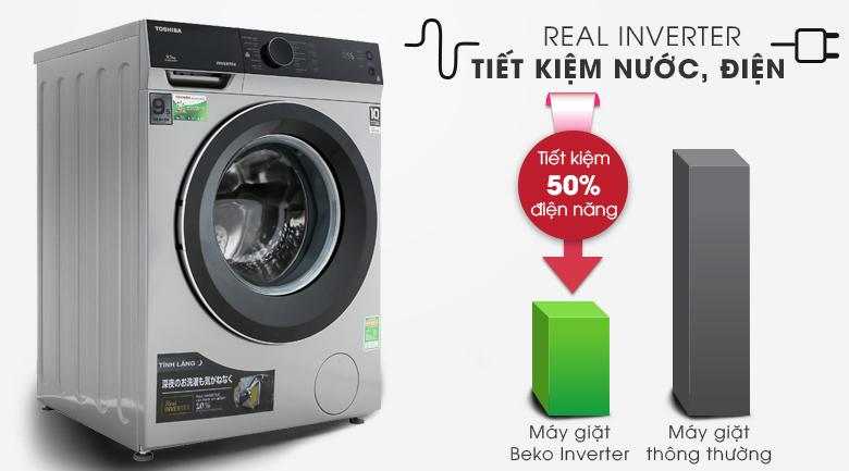 Real Inverter - Máy giặt Toshiba Inverter 9.5 kg TW-BH105M4V SK