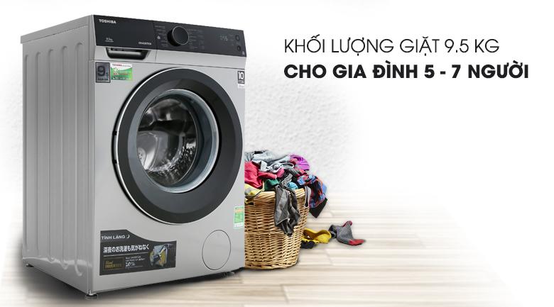 Khối lượng giặt 9.5 kg - Máy giặt Toshiba Inverter 9.5 kg TW-BH105M4V SK