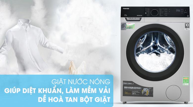 Giặt nước nóng - Máy giặt Toshiba Inverter 9.5 kg TW-BH105M4V SK