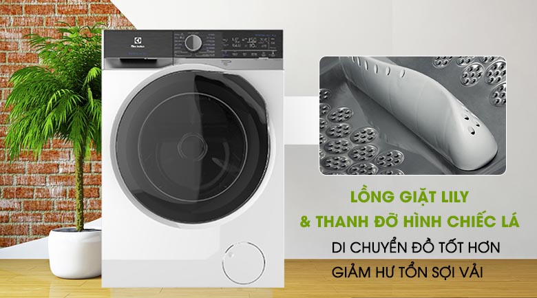 Lồng giặt Lily - Máy giặt sấy Electrolux Inverter 8 kg EWW8023AEWA