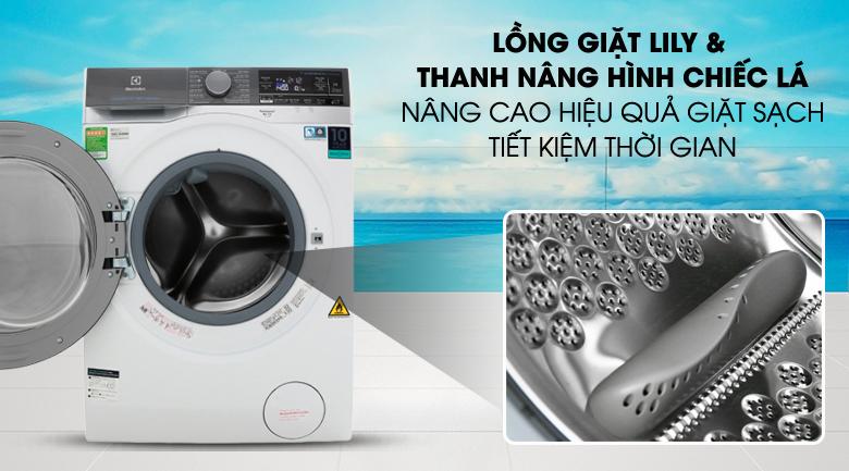 Lồng giặt Lily & thanh nâng hình chiếc lá - Máy giặt sấy Electrolux Inverter 10 kg EWW1042AEWA