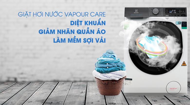 Công nghệ giặt hơi nước Vapour Care - Máy giặt sấy Electrolux Inverter 11 kg EWW1141AEWA