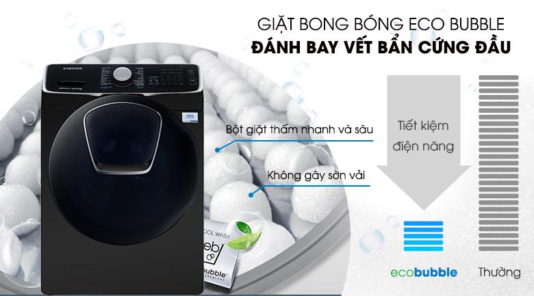 Giặt bong bóng Eco Bubble - Máy giặt sấy Samsung Add Wash Inverter 19 kg WD19N8750KV/SV