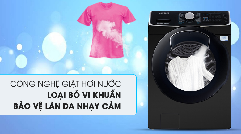 Giặt hơi nước - Máy giặt sấy Samsung Add Wash Inverter 19 kg WD19N8750KV/SV