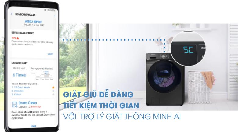 AI-Máy giặt sấy Samsung Add Wash Inverter 19 kg WD19N8750KV/SV