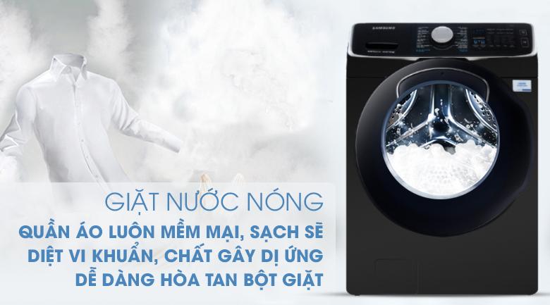 giặt nước nóng-Máy giặt sấy Samsung Add Wash Inverter 19 kg WD19N8750KV/SV