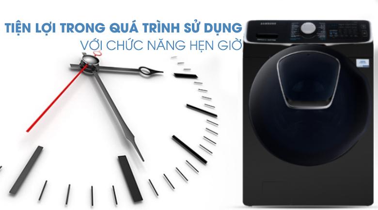chế độ hẹn giờ-Máy giặt sấy Samsung Add Wash Inverter 19 kg WD19N8750KV/SV