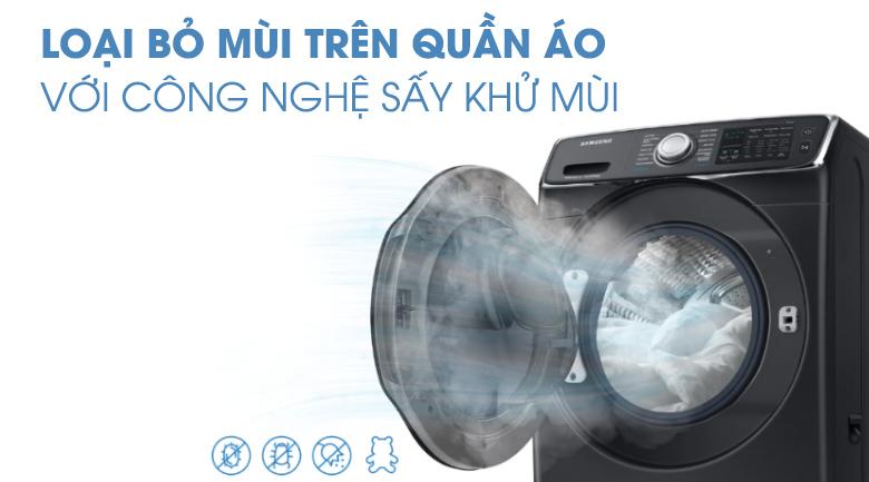 sấy khử mùi -Máy giặt sấy Samsung Add Wash Inverter 19 kg WD19N8750KV/SV