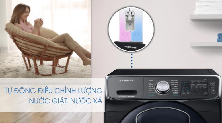 tự động điều chỉnh lượng dầu xả-Máy giặt sấy Samsung Add Wash Inverter 19 kg WD19N8750KV/SV