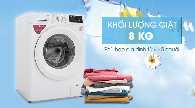 Máy giặt LG Inverter 8 kg FC1408S5W - Khối lượng