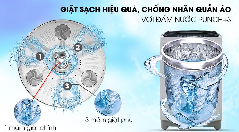 Kết hợp giữa lồng giặt TurboDrum và đấm nước Punch+3 - Máy giặt LG Inverter 10.5 kg T2350VS2M