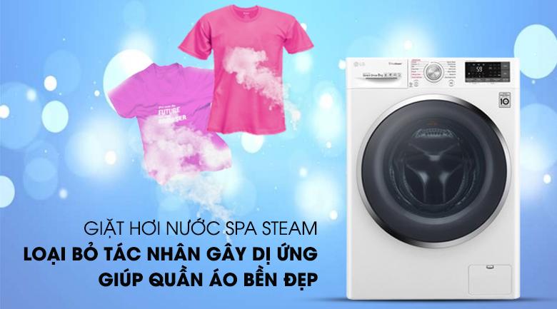 Máy giặt LG Inverter 9 kg FC1409S4W-công nghệ hơi nước Spa steam
